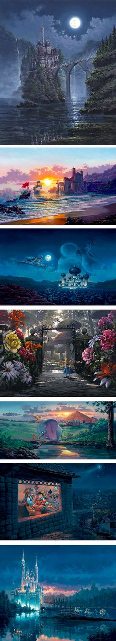 Stunning disney art by artist Rodel Gonzalez. Disney dreamed up some beautiful landscapes. Disney Pixar, Walt Disney, Disney Films, Disney And Dreamworks, Disney Love, Disney Magic, Disney Stuff, Disney Nerd, Disney Fanatic