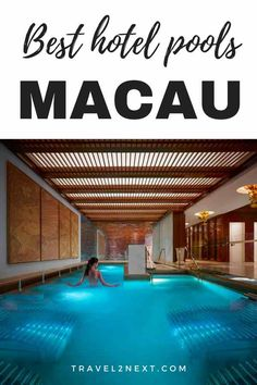 Top macau pools to choose on your next visit to macau. Travel Advice, Travel Guides, Travel Tips, Travel Plan, Travel Articles, Hotel Swimming Pool, Hotel Pool, China Travel, Macau Travel