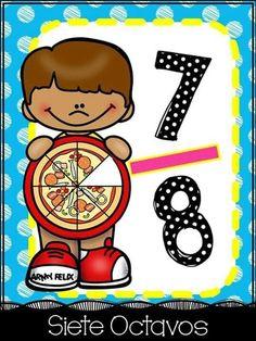 תמונה Learning Time, Kids Learning, Flashcards For Kids, Math School, Math Fractions, 2nd Grade Math, Math For Kids, Learning Through Play, School Colors