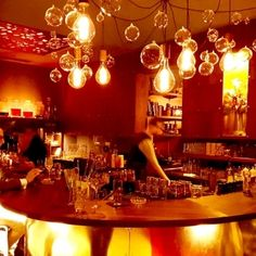 Restaurant Bar, Vienna, Austria, Restaurants, Highlights, Table Settings, Chandelier, Ceiling Lights, Lighting