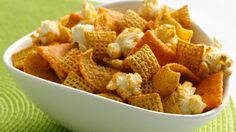 Have a crowd of munchers to satisfy? Make this festive snack mix in minutes for a fiesta with no baking required!