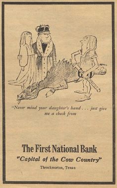 """The First National Bank, """"Capital of the Cow Country,"""" Throckmorton Tribune (Throckmorton, Tex.), February 27, 1975"""