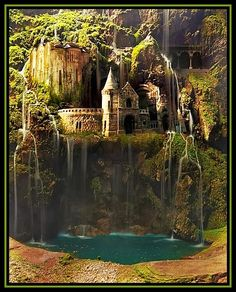 Waterfall Castle, The Enchanted Wood, Poland