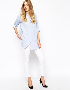 Image 4 of Mih Jeans Oversized Boyfriend Shirt