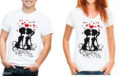 Couple Tshirts Trendy Couple T-Shirts Fabric: Cotton Blend Sleeves: Half Sleeves Are Included Size: S M L XL XXL( Refer Size Chart) Length: Refer Size Chart Type: Stitched Description: It Has 2 Pieces Of T-Shirts Work: Printed Country of Origin: India Sizes Available: S, M, L, XL, XXL   Catalog Rating: ★4 (490)  Catalog Name: Briar Standard Cotton Blend Couple T-Shirts Vol 7 CatalogID_95831 C79-SC1940 Code: 624-830412-0801