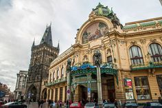 (Town House, Prague) Town House, Prague, Big Ben, Barcelona Cathedral, Building, Travel, Voyage, Terraced House, Buildings