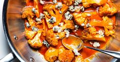 Recipe: Buffalo Cauliflower with Blue Cheese - Dale Talde Recipe. Per ninas cousin Gina . Perfect way to roast cauliflower (whole) and delish. Side Dish Recipes, Vegetable Recipes, Vegetarian Recipes, Cooking Recipes, Healthy Recipes, Side Dishes, Vegetarian Options, Healthy Meals, Delicious Recipes