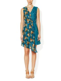 Windermere Cotton Mixed Media Dress by Anna Sui at Gilt