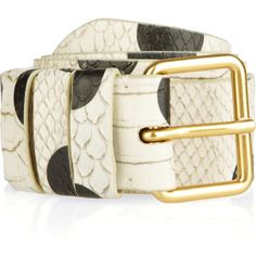 Marc by Marc Jacobs Hot Dot snake-effect leather belt (105 CAD) ❤ liked on Polyvore featuring accessories, belts, leather belt, marc by marc jacobs, genuine leather belt, 100 leather belt and marc by marc jacobs belt