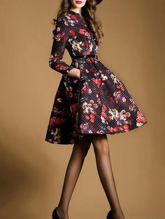 What I like: amazing bold floral print // What I don't like: skirt length is too short