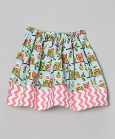 Owl little ladies will love flying from playground to party in this lively skirt. An elastic waistband means pulling it on is as swift as a bird, while light-as-a-feather cotton ensures all day comfort.