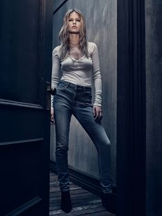 New denim line from Alexander Wang! Love this high waisted skinny look! Photo: Courtesy of Alexander Wang