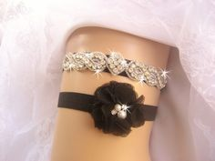 Hey, I found this really awesome Etsy listing at https://www.etsy.com/listing/168127325/wedding-garter-black-garter-rhinestone
