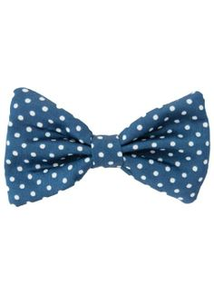 Amazon.com: American Apparel Small Bow Hair Clip - White PD on Navy Crepe De Chine / One Size: Clothing