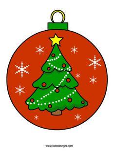 pallina-albero-natale Christmas Art For Kids, Wall Christmas Tree, Christmas Topper, Christmas Alphabet, Christmas Rock, Christmas Drawing, Christmas Clipart, Christmas Paintings, Christmas Crafts For Kids