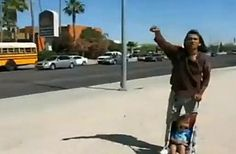 Native American Man Shouts At Anti-Illegal Immigration Protesters: 'You're All F**king Illegal!'-VIDEO