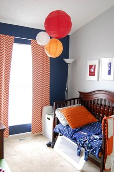 """Great use of paper lanterns Ky's Outer Space """"Big Boy"""" Room  My Room"""