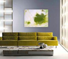 PERiDOT RUSH original abstract modern painting by linneaheideart, via Etsy.