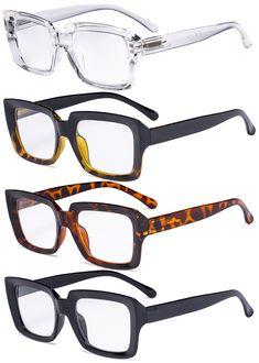 Eyekepper 4 Pack Ladies Reading Glasses - Stylish Oversized Square Readers for Women Stylish Reading Glasses, Lunette Style, Bifocal Glasses, Fashion Eye Glasses, Computer Glasses, Womens Glasses, Glasses Frames, Mode Style, Look