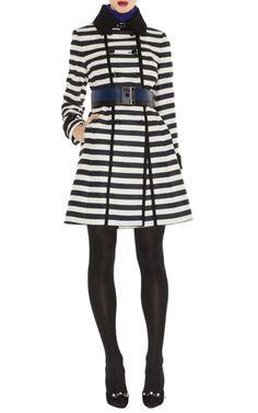 Karen Millen Striped Coat