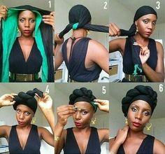 Hijab Styles 320881542183066261 - tuto foulard turban Plus Source by asuricate Hair Wrap Scarf, Hair Scarf Styles, Curly Hair Styles, Hijab Styles, Natural Hair Care, Natural Hair Styles, Natural Shampoo, Natural Curls, Pelo Afro