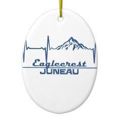 Eaglecrest  -  Juneau - Alaska Ceramic Ornament - home gifts ideas decor special unique custom individual customized individualized