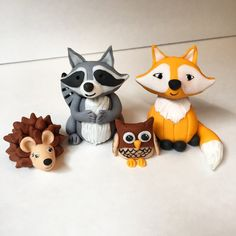 Hey, I found this really awesome Etsy listing at https://www.etsy.com/listing/231406453/woodland-creatures-fondant-cake-toppers