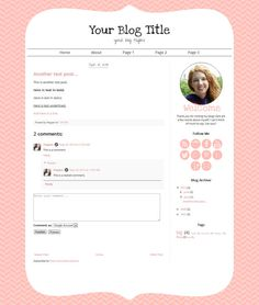 Cute pink blog template for blogger blogs!  This pretty blog template comes with 10 matching social media icons, a welcome graphic, and it includes installation! #blogger #blogspot #blogging #template #etsy