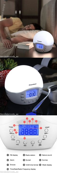 Light Therapy Devices: Sunrise Led Wake Up Light Digital Lamp Therapy Alarm  Clock Nature Sound