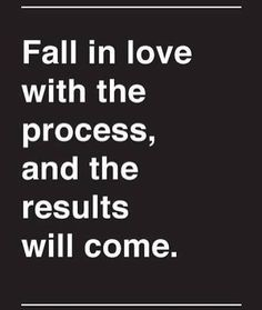 Fall in love with the process. Eric Thomas. // follow us @motivation2study for daily inspiration