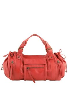Sac Porte Epaule 24 H St Germain Cuir Gerard darel Orange
