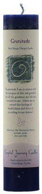 Gratitude Reiki Charged pillar candle
