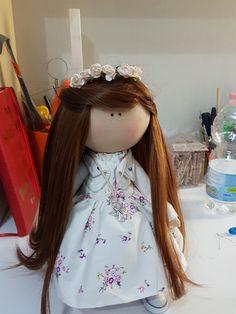 Textile doll hand made tilda doll interior doll