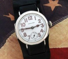Men's 1919 Hamilton Wire Lug Trench Watch | Strickland Vintage Watches
