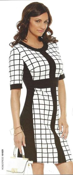 Black & White Dress | Joseph Ribkoff 2016 Collection