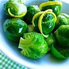 Honey Dijon Brussels Sprouts | Tender Brussels sprouts are tossed in a buttery honey mustard sauce.