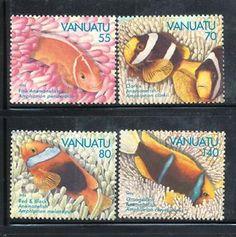 Vanuatu clownfish in coral stamps - very cute!
