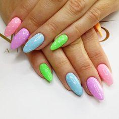 by Agata Kaczmarek Indigo Young Team, Follow us on Pinterest. Find more inspiration at www.indigo-nails.com #nailart #nails #indigo #pastel #polkadots