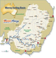 map of the murray darling basin australia