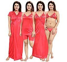 Girls Night Dress, Night Dress For Women, Night Gown, Night Wear, Sexy Jeans, India Beauty, Lingerie Set, Magenta, Beauty Women