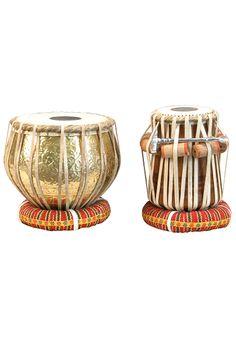 banjira Tabla Set, Embossed Brass