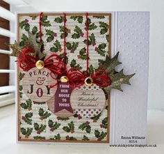 Craftwork Cards Blog: Mini Mania Mistletoe Papers by Emma Williams