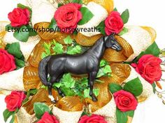 HORSE OUTDOOR WREATH Clearance Sale Equestrian by HorseWreaths