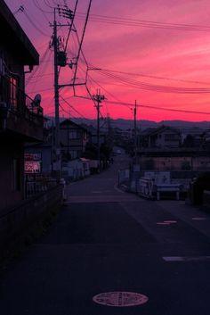 red lights light japan beautiful landscape orange street city pink travel urban sunset neon Asia glow ghetto seapunk cyberpunk cyber aesthetic vaporwave asiatic cyber ghetto