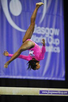 Elizabeth Price Gymnast Glasgow Cup Beam