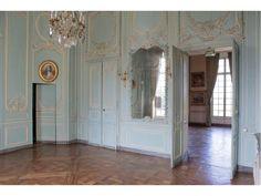 Lieu de tournage Paris Ile-de-france : Château de Champlâtreux - Salon bleu