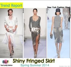 Shiny Fringed Skirt #Fashion Trend for   Spring Summer 2014 #trends #spring2014