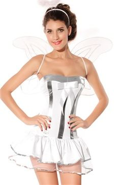 Corset Angel Style #Cosplay #Costume With Wings And Fluffy Crinolines for your #Halloween only by #OuterInner