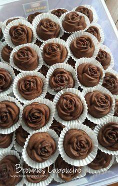 KLIKUE - Balikpapan Cakes and Puddings Online Shop: Brownies Cappucino Cake Recipes, Snack Recipes, Dessert Recipes, Snacks, Milo Recipe, Bolu Cake, Brownie Packaging, Brownies Kukus, Resep Cake