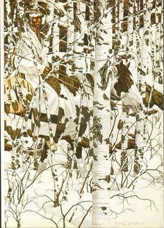 by Bev Doolittle Native American Horses, Native American Paintings, Illusion Paintings, Illusion Art, Hidden Art, Art Optical, Hidden Pictures, Cowboy Art, Vintage Art Prints